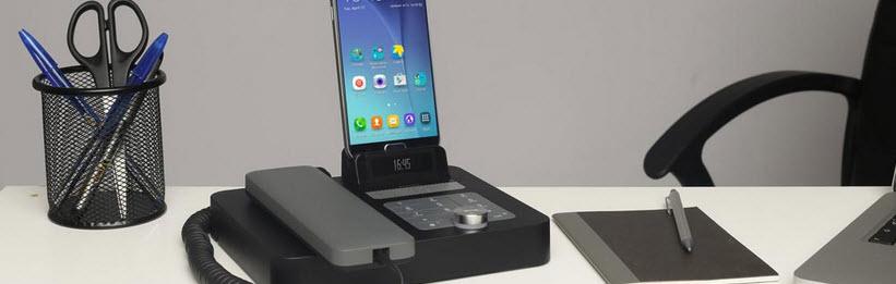 Dockingstation mit Telefon
