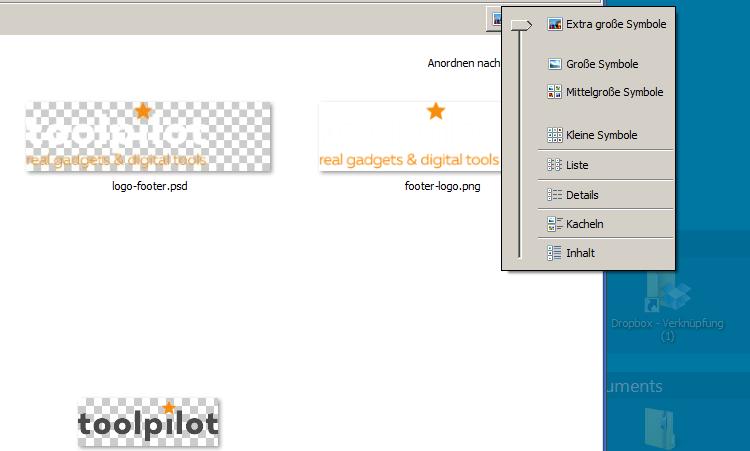 PSD Vorschau im Windows Dateiexplorer