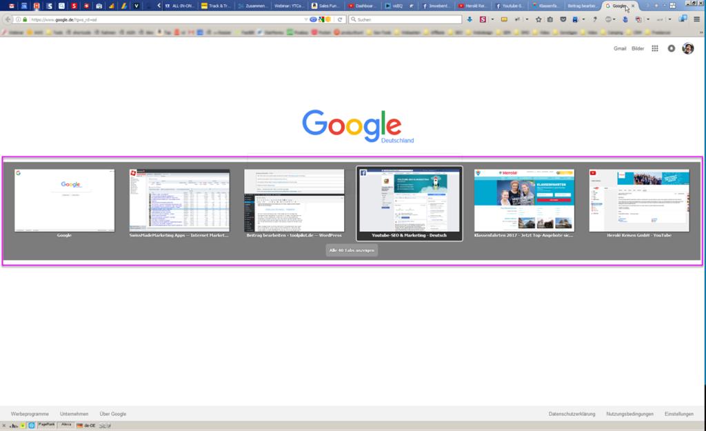 Tabs wechseln Firefox