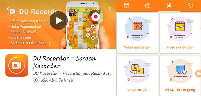 Bildschirm aufnehmen Android