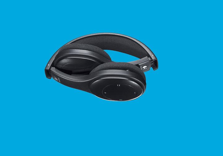 Headset zusammengeklappt für die Tasche