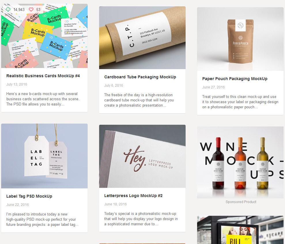 kostenlose Mockups für Designer