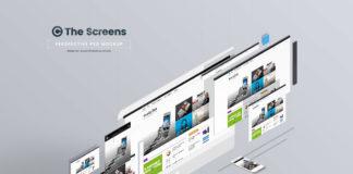 futuristisches Screen Mockup - kostenlos
