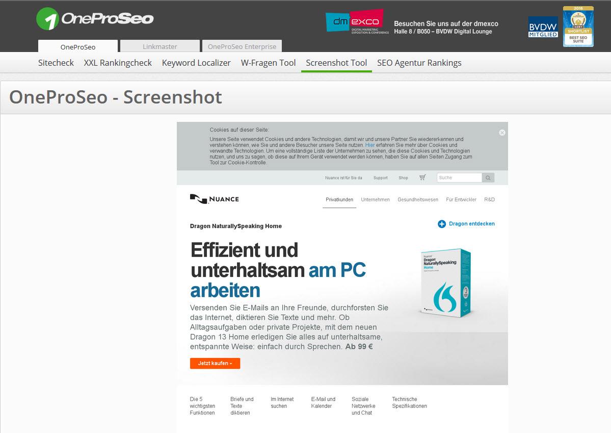Screenshot Von Website
