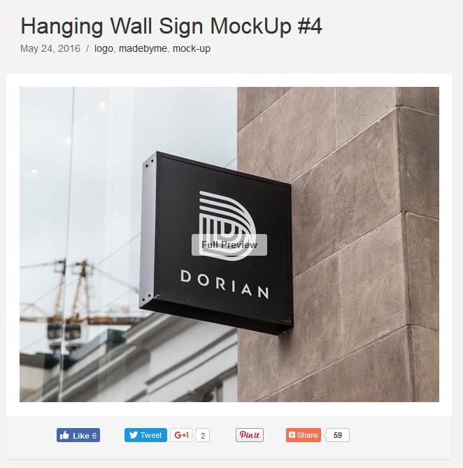 Geschäftswand Gebäudeaufhänger Logo Mockup