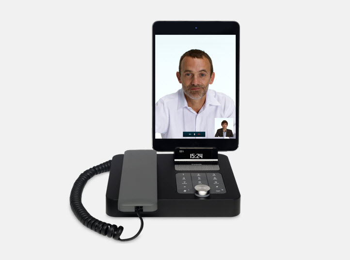 Smartphone Dockingstation mit Freisprechen und Telefonhörer