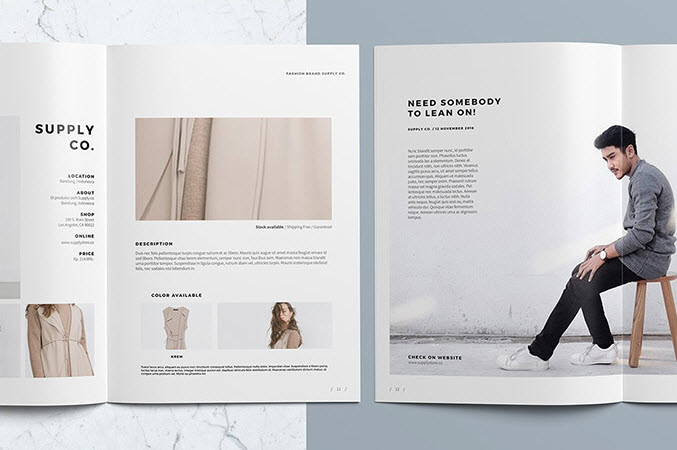 Lookbook InDesign Layout