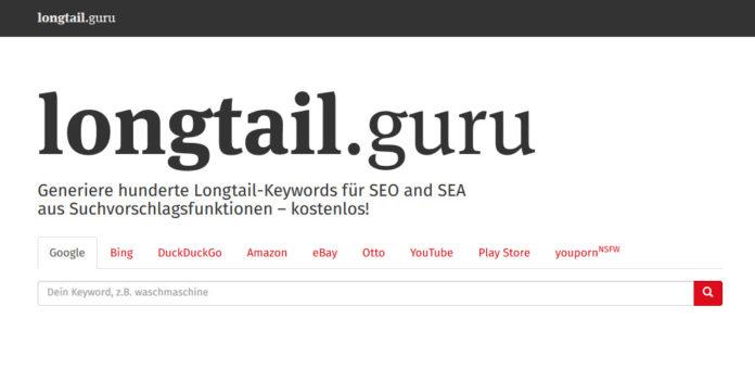 Longtailkeywords finden aus Amazon, Bing, Google, Ebay und vielen mehr..