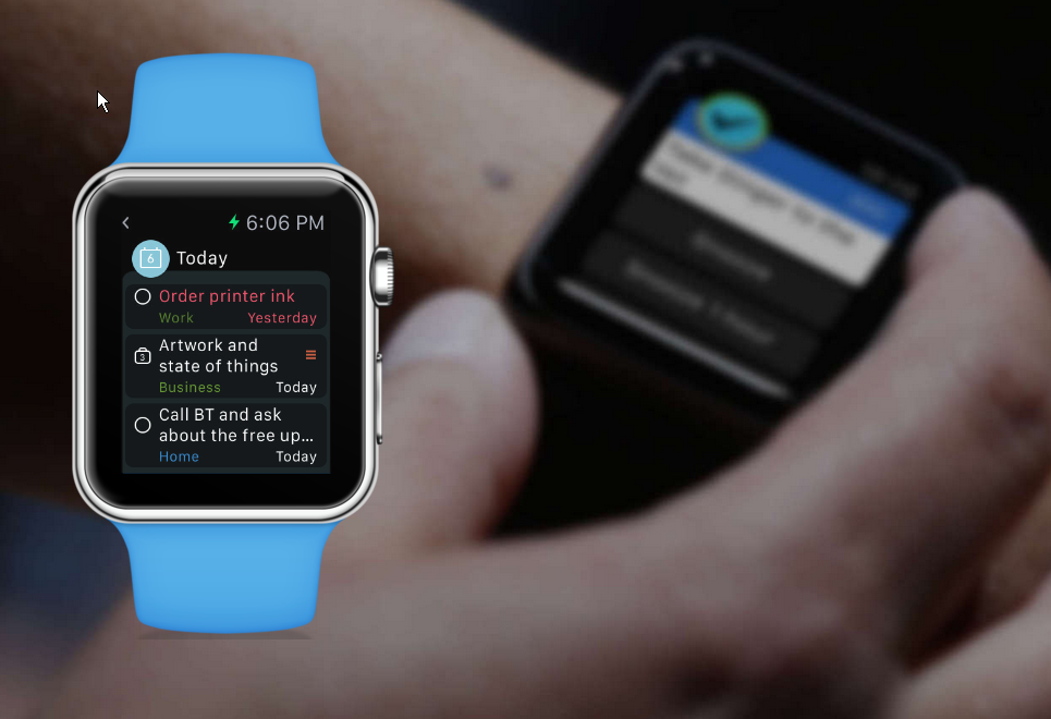 Apple Smartwatch fähiger Aufgabenplaner