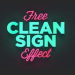 Neon Effekt mit Photoshop - Mockup