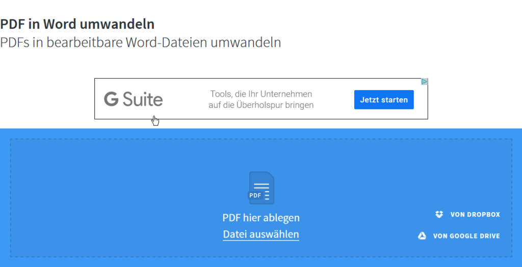 PDF Dateien konvertieren