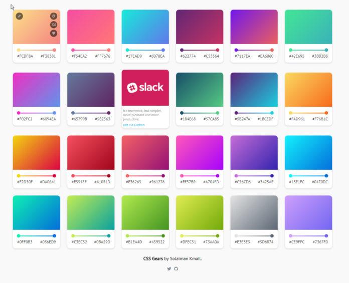 Farbverläufe für Webseiten finden