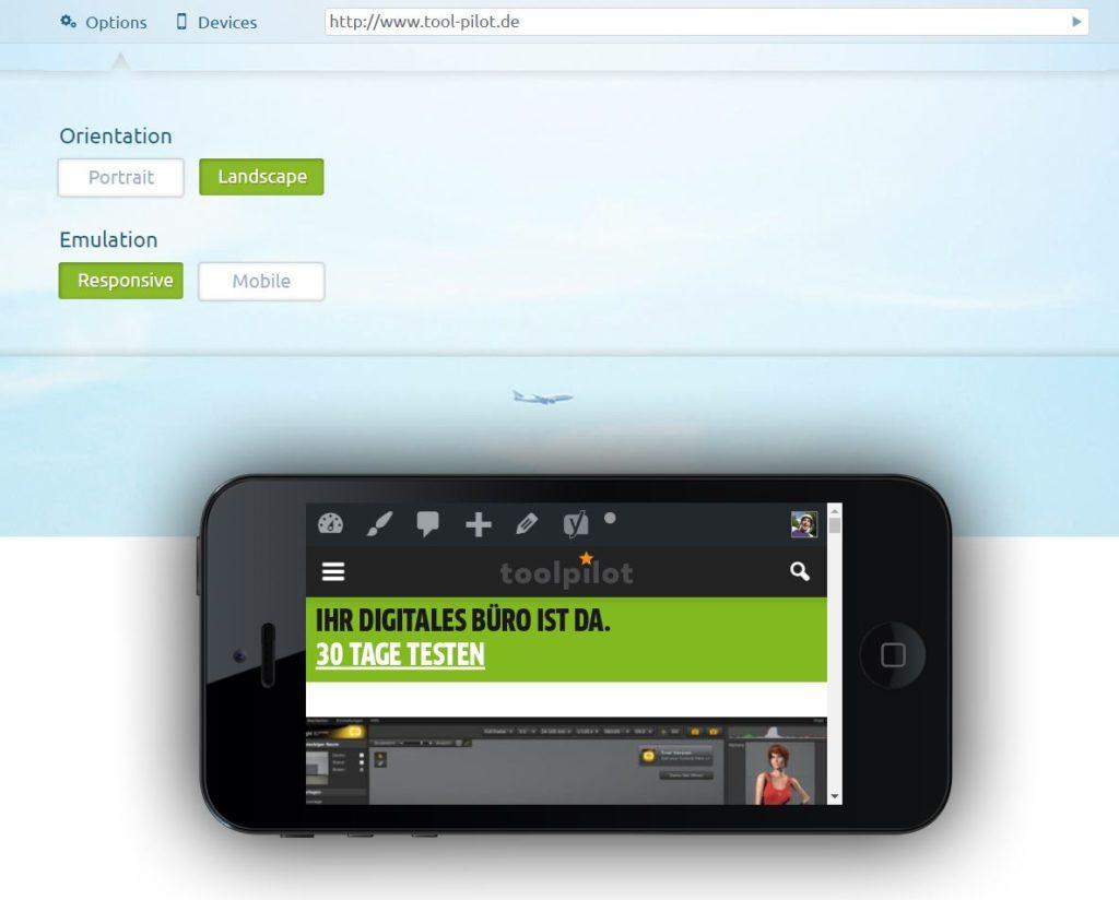 Webseitentest auf mobilen Endgeräten - Landscape oder Portrait Ansicht