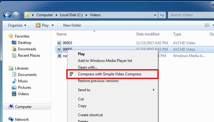 Einfaches Verkleinern von Videos über den Windows Explorer