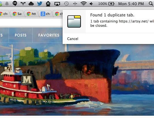 Chrome Plugin Unique Tabs