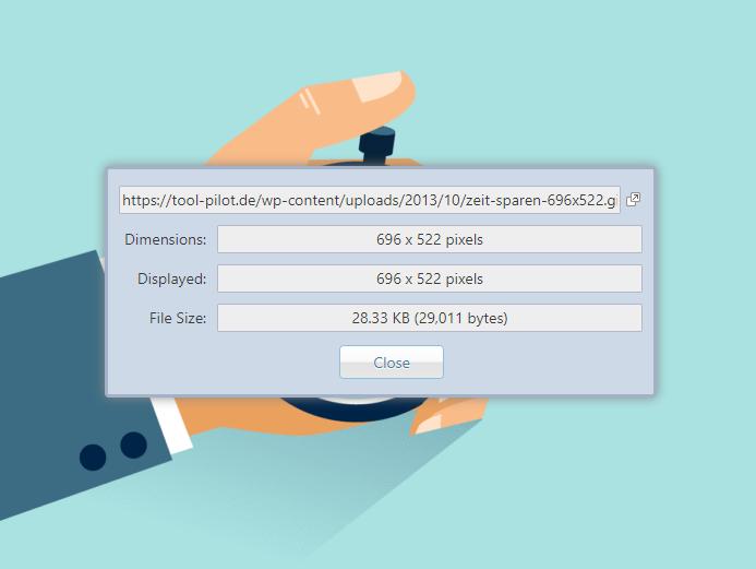 Image Size Infos Browserplugin